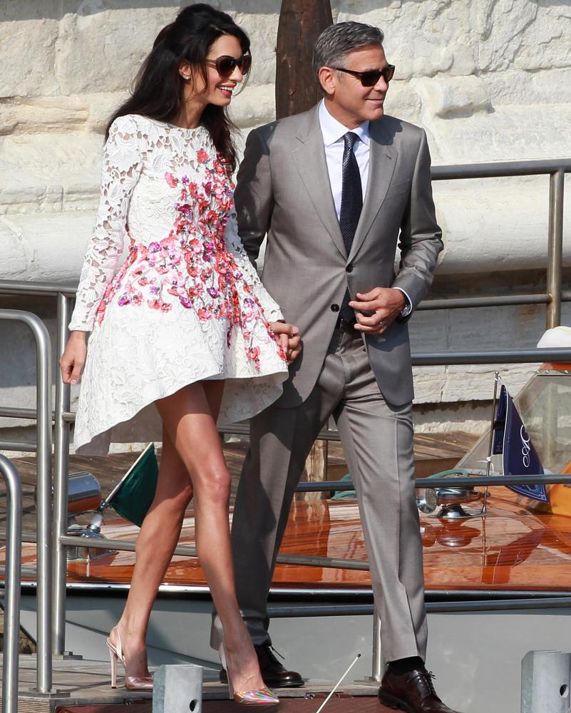 Amal Clooney wearing a Valli creation.