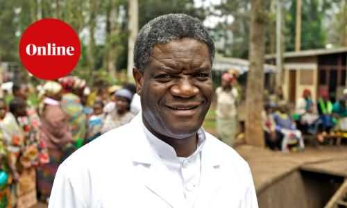 Denis Mukwege, a doctor in the Democratic Republic of the Congo and joint winner of the Nobel Peace prize in 2018