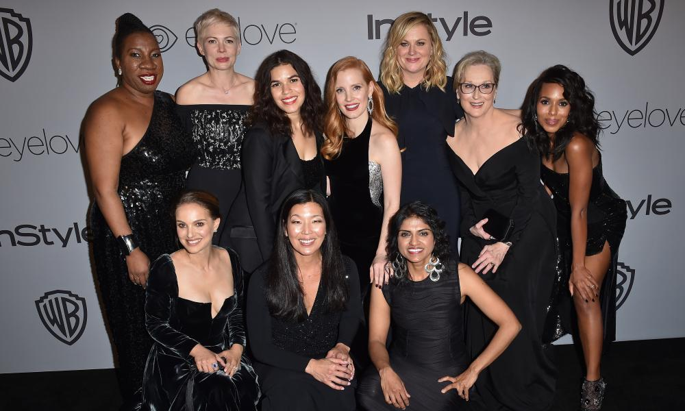 Actors and activists at the Golden Globes party last month