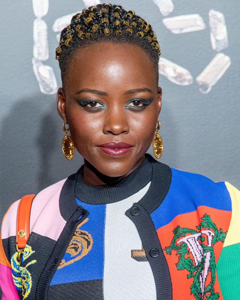 Actor Lupita Nyong'o attends the Versace fall 2019 fashion show.