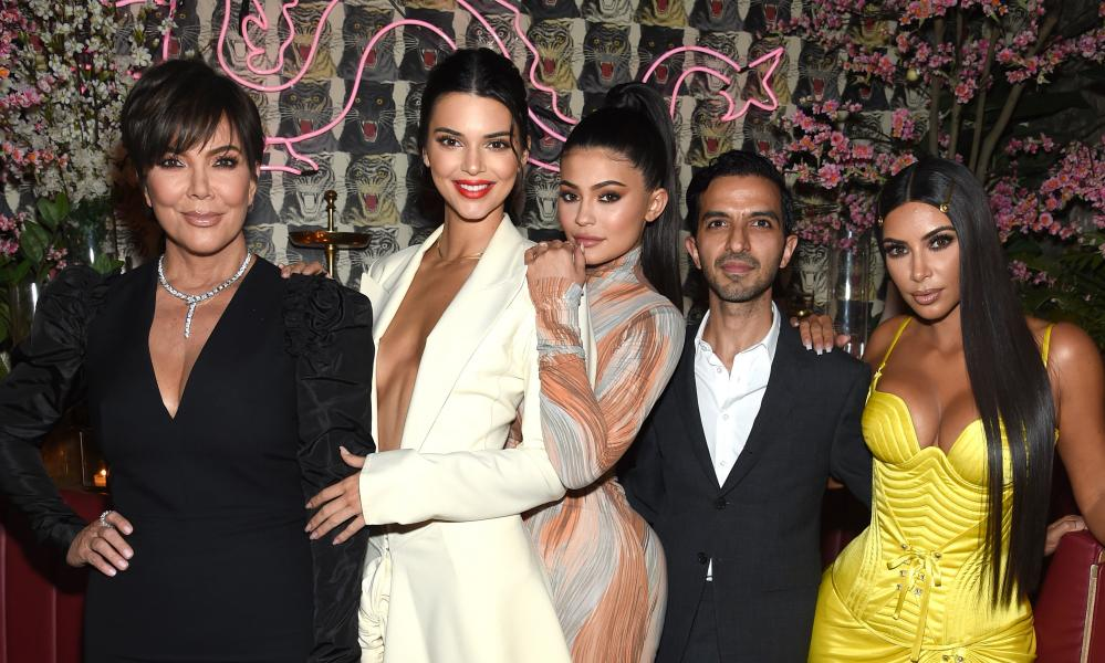 Model man: Imran Amed with Kris Jenner, Kendall Jenner, Kylie Jenner and Kim Kardashian West attend a dinner hosted by the Business of Fashion to celebrate its latest special print edition, The Age of Influence.