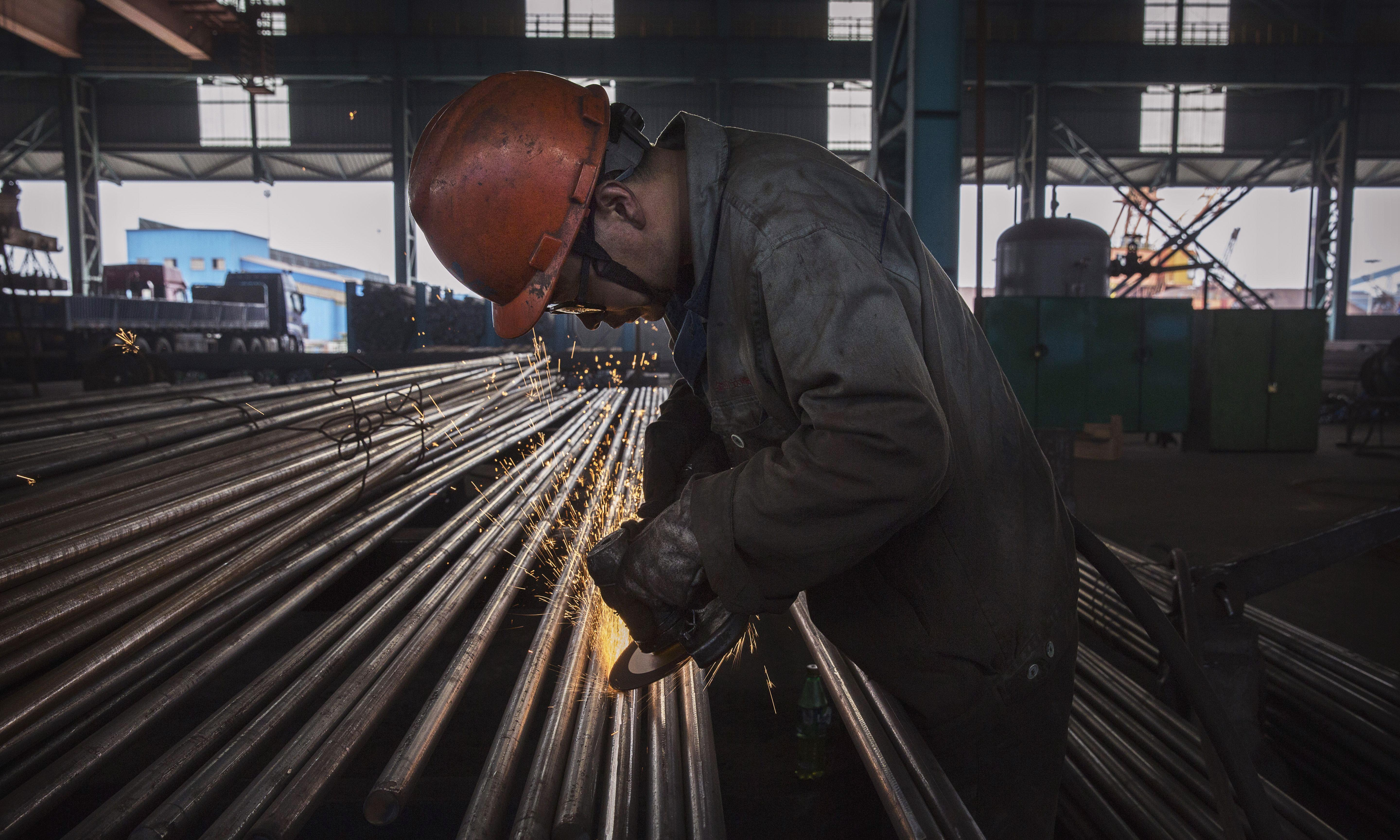 China's industrial growth slumps to weakest rate in over 17 years