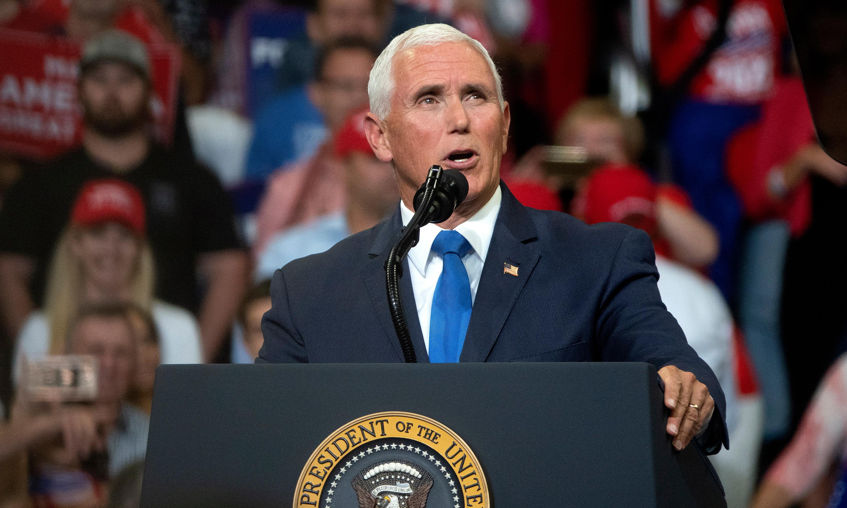 Mike Pence repeatedly refuses to say climate crisis is a threat to US