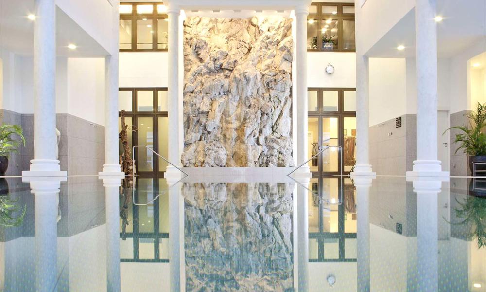 'Full-on glamour': the luxurious pool at the Kempinski, St Moritz.