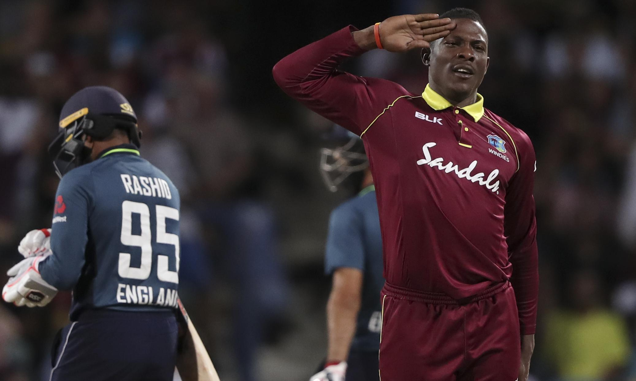 England blown away by West Indies seamer Sheldon Cottrell in second ODI