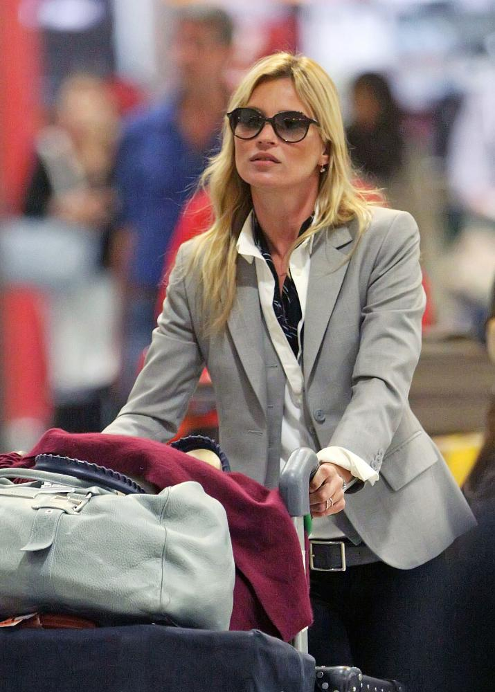 Kate Moss at Heathrow in 2011