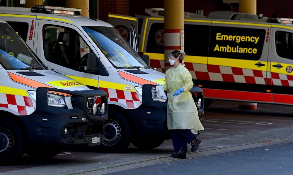 Ambulances outside Liverpool hospital's emergency department