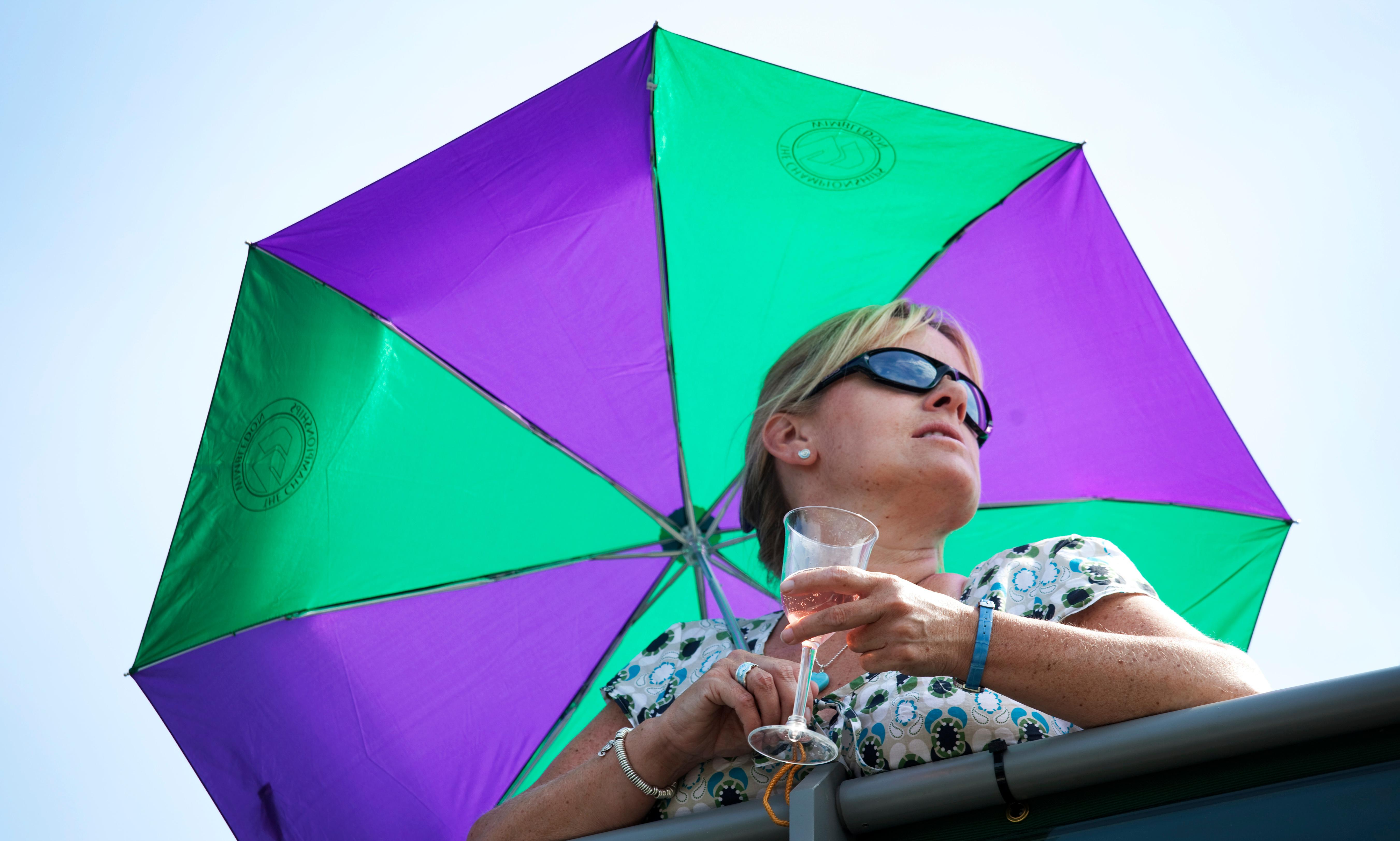 Flying champagne corks burst bubble on Wimbledon matches