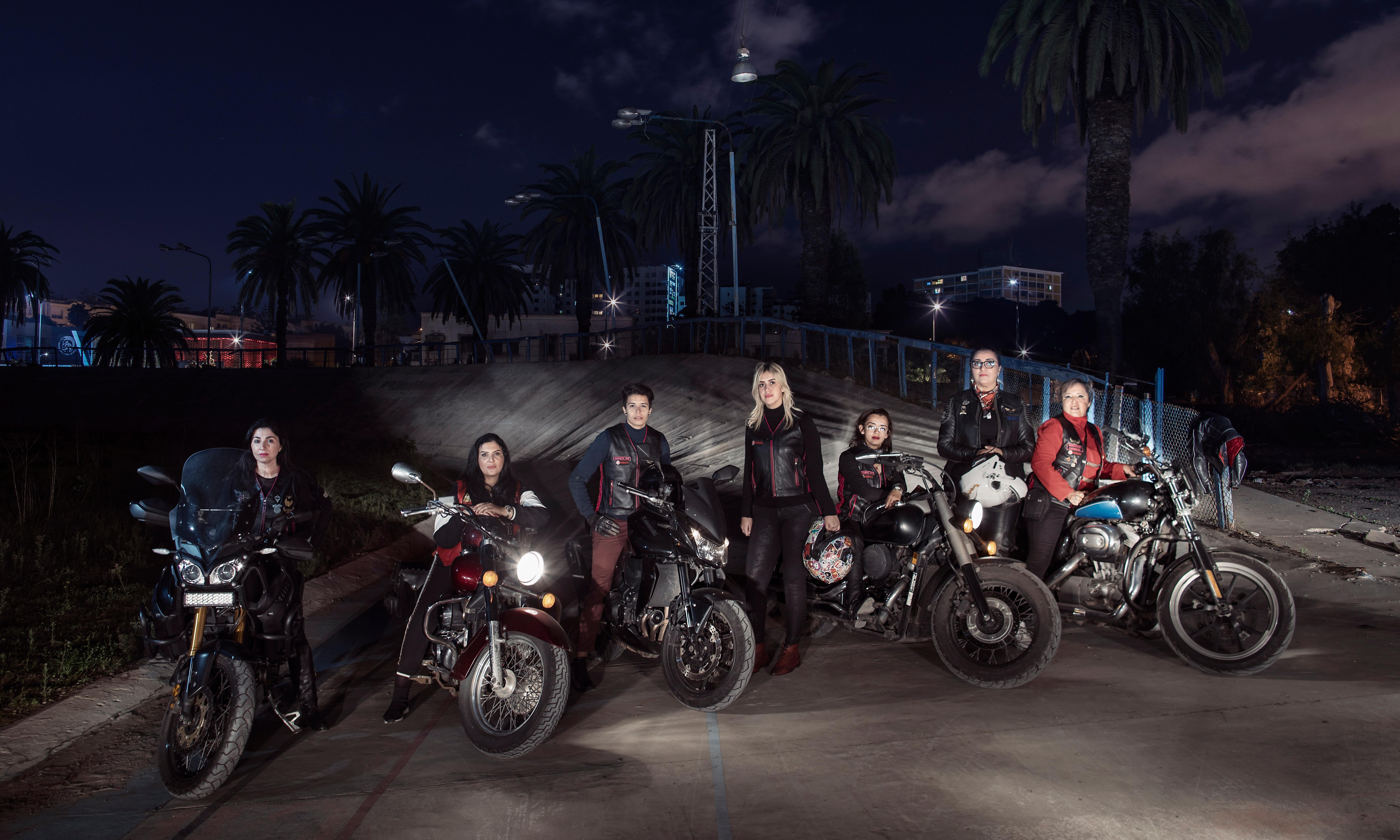 A Muslim woman's place? In Casablanca, it could be burning rubber on a Harley…