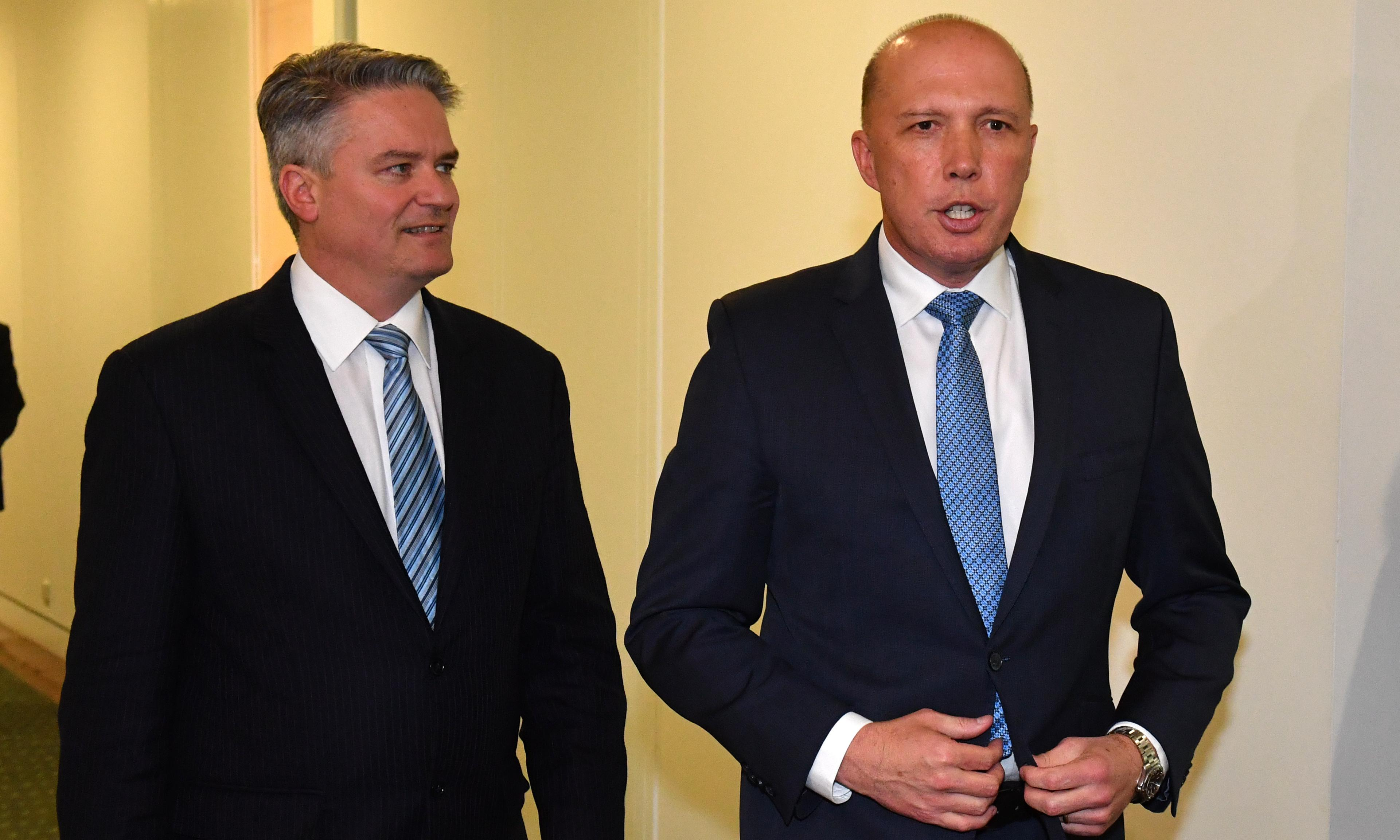 Cormann and Dutton downplay chances of Australia accepting New Zealand refugee deal
