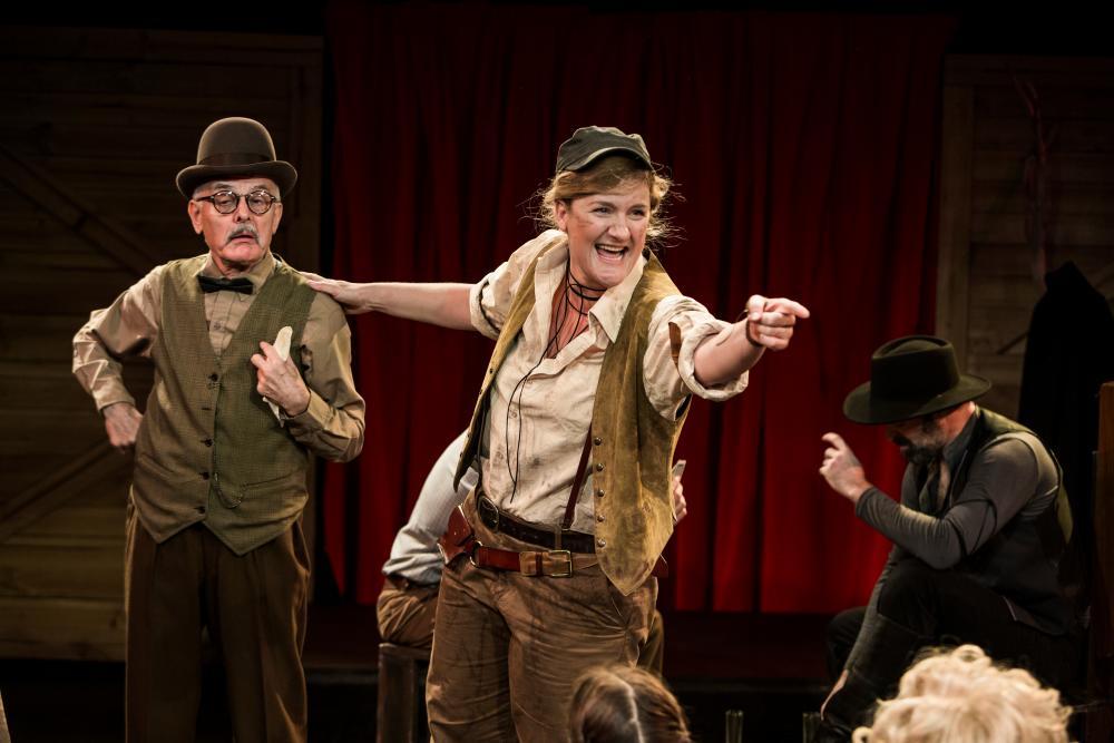 Tony Taylor, Virginia Gay and Anthony Gooley in Calamity Jane