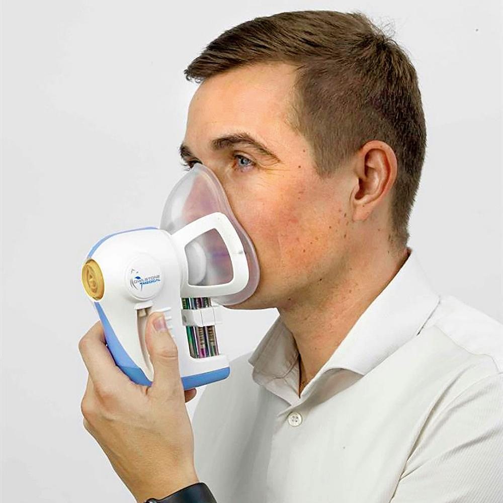 A cancer breathalyser made by Owlstone Medical.