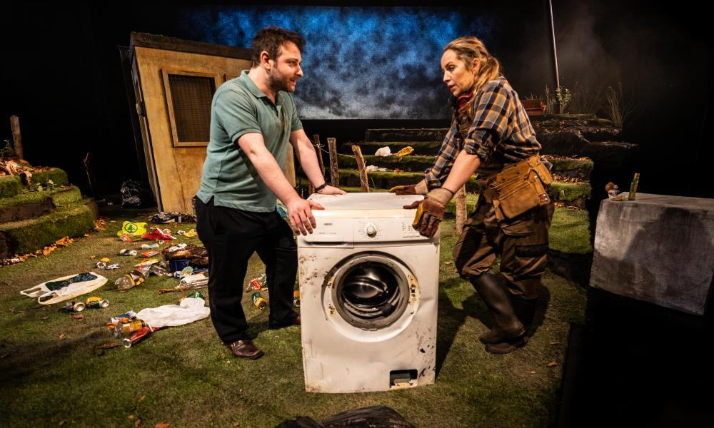 All washed up? … Patrick McBrearty as Henry and Liz Fitzgibbon as Sinead in The Border Game.