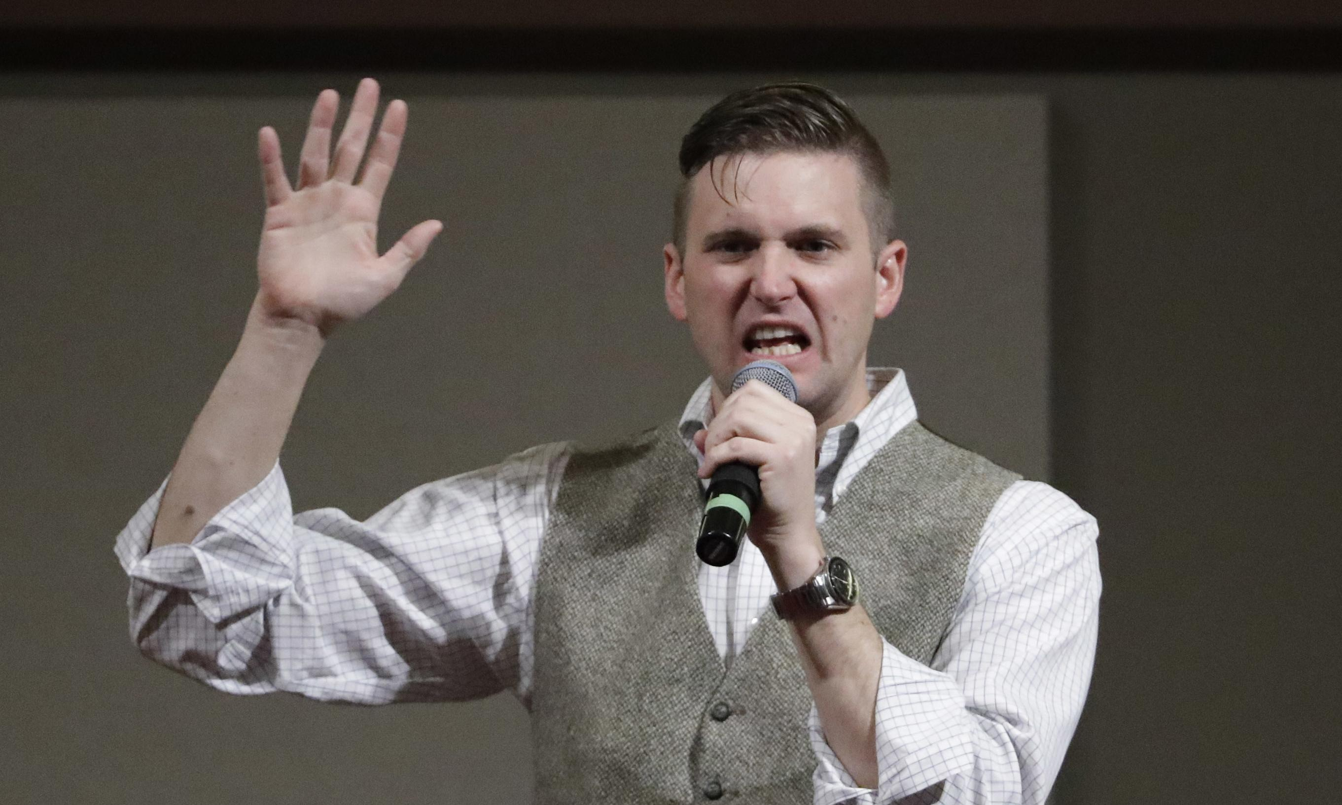 White supremacist Richard Spencer makes racist slurs on tape leaked by rival
