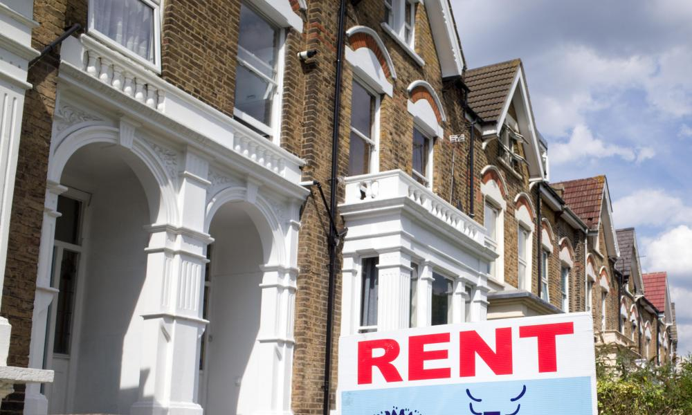 A rent sign outside a property