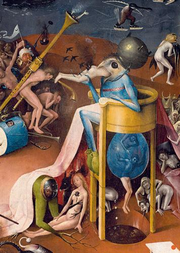 A detail from the 'hell' panel of The Garden of Earthly Delights.