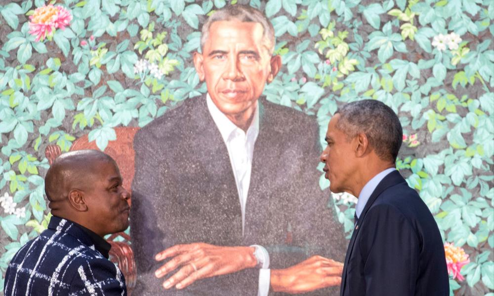 'Wiley has mistaken knowingness for depth' … the artist and the ex-President.