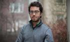 First Use Saturday Review Nathan Englander (suit) & Jonathan Safran Foer (pictured) in Brooklyn, New York, USA