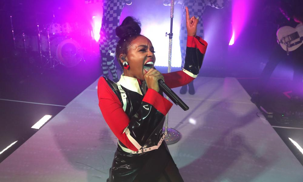 'Her work functions like a mirror held up to black women' ... Janelle Monáe performing in October.