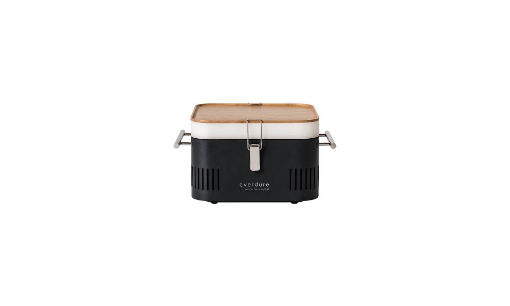 Cube portable charcoal barbecue