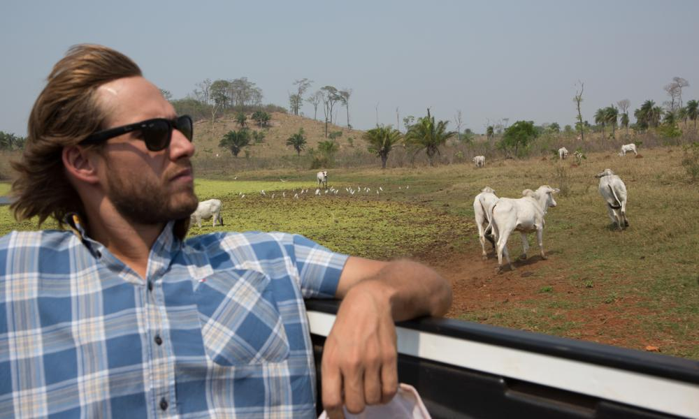 Rodrigo Rodrigues da Cunha, 27, the financial manager for his family agro-cattle business, visit a farm in Mato Grosso newly acquired by the group. Mato Grosso, 2015
