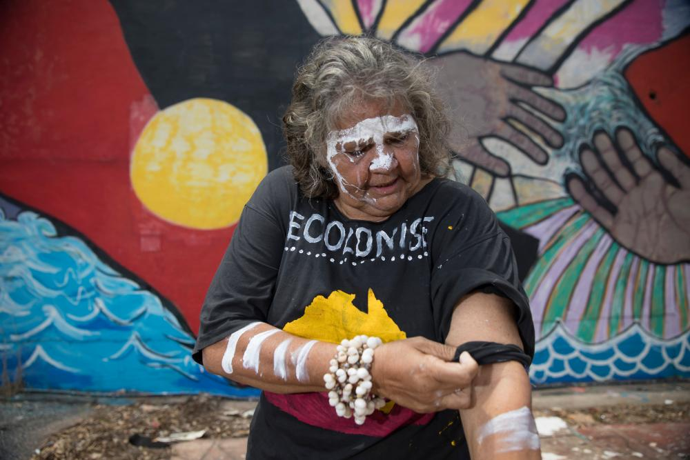 June Mills, Larrakia elder, in Darwin.