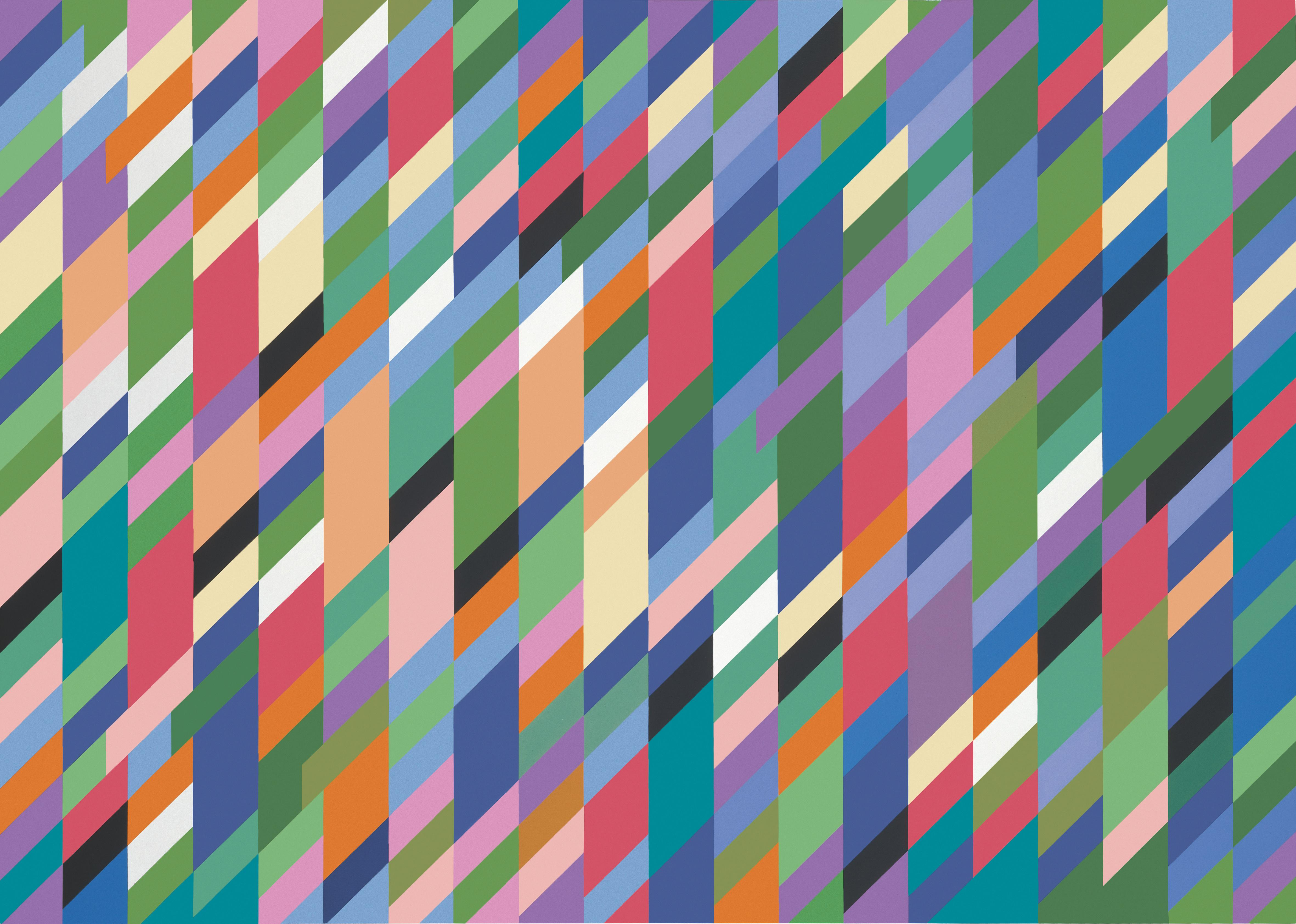 Bridget Riley review – a shimmering, rolling, flickering spectacular