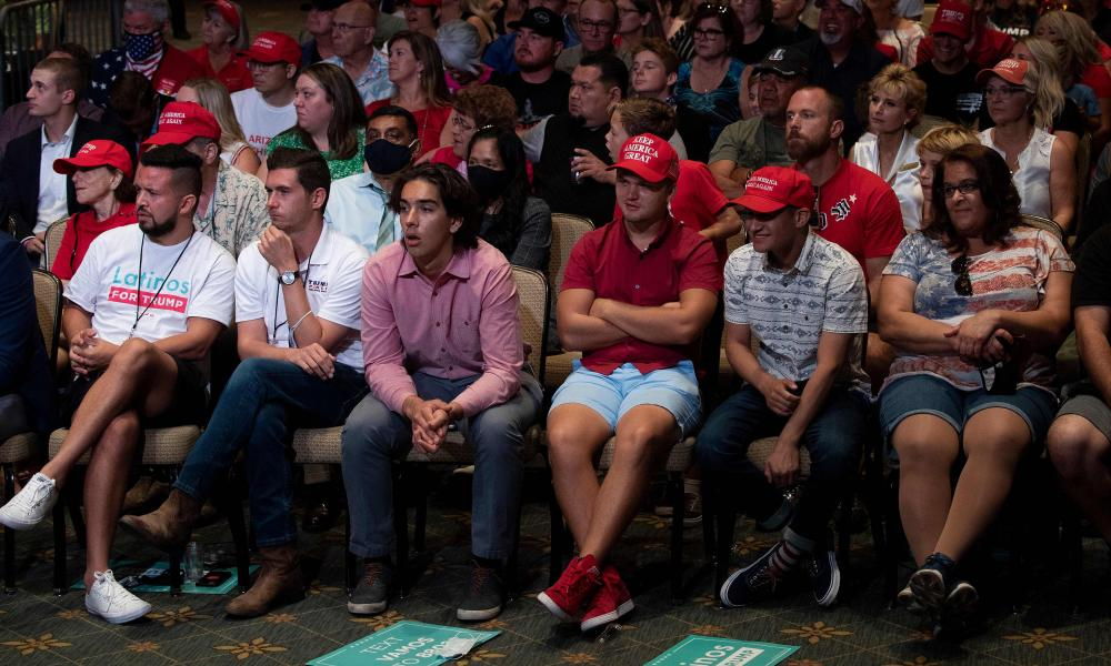 A Trump event in Phoenix, Arizona on Monday where supporters did not wear masks or follow social distancing protocols.