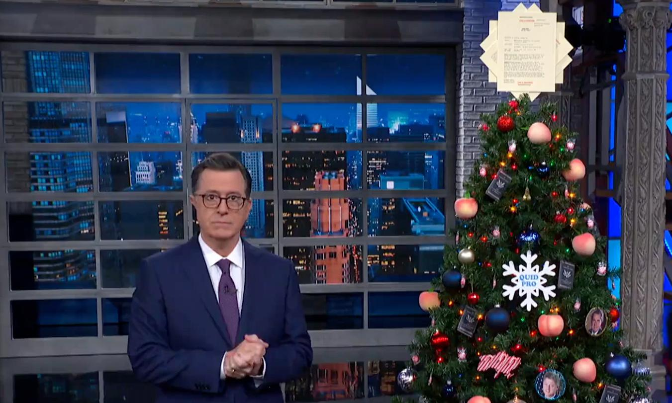 Stephen Colbert: 'Publicly bragging about a crime doesn't make it legal'