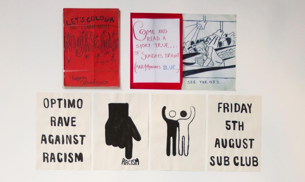 Anarchic DIY spirit … flyers for Glasgow's Sub Club.