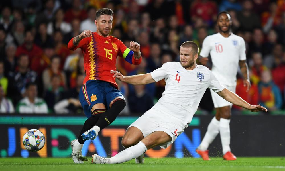 Eric Dier received a yellow card for his tackle on Sergio Ramos but was congratulated by the Spain defender after Monday's match.