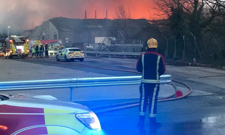 Firefighters tackle blaze in Birmingham warehouse