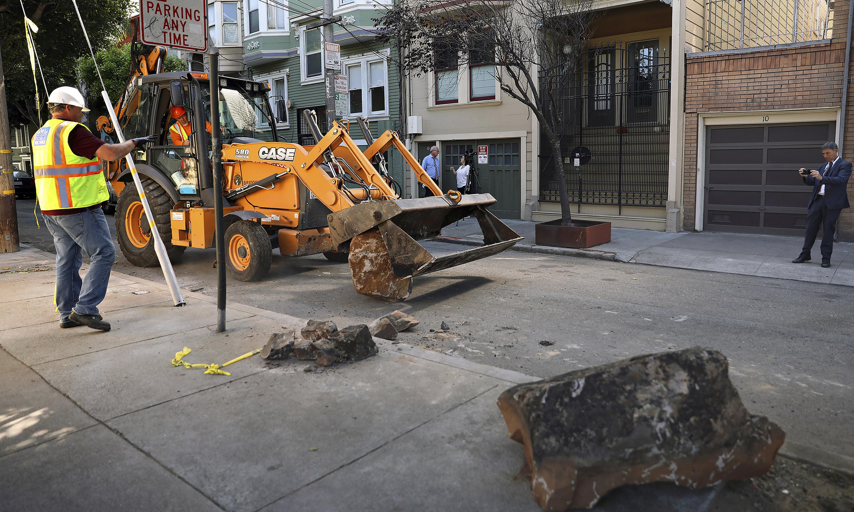 Blocked sidewalks: how boulders became a flashpoint in San Francisco's homeless crisis