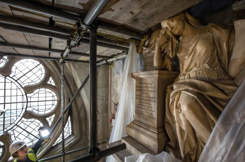 restoration work at Westminster Abbey