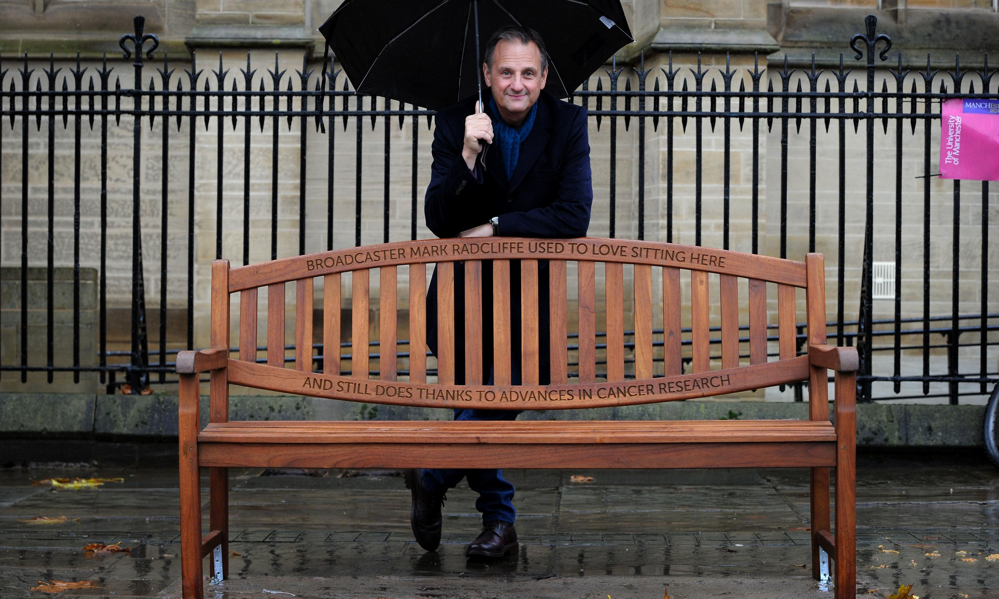 DJ Mark Radcliffe gets commemorative bench after cancer recovery