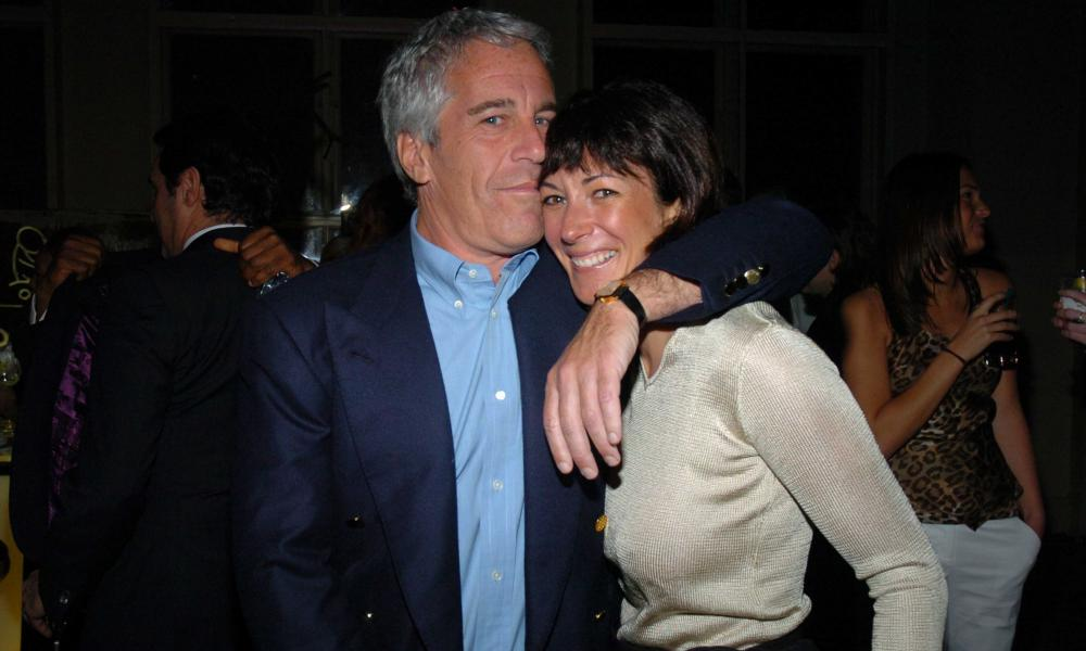 Jeffrey Epstein and Ghislaine Maxwell attend an event in New York in 2005.
