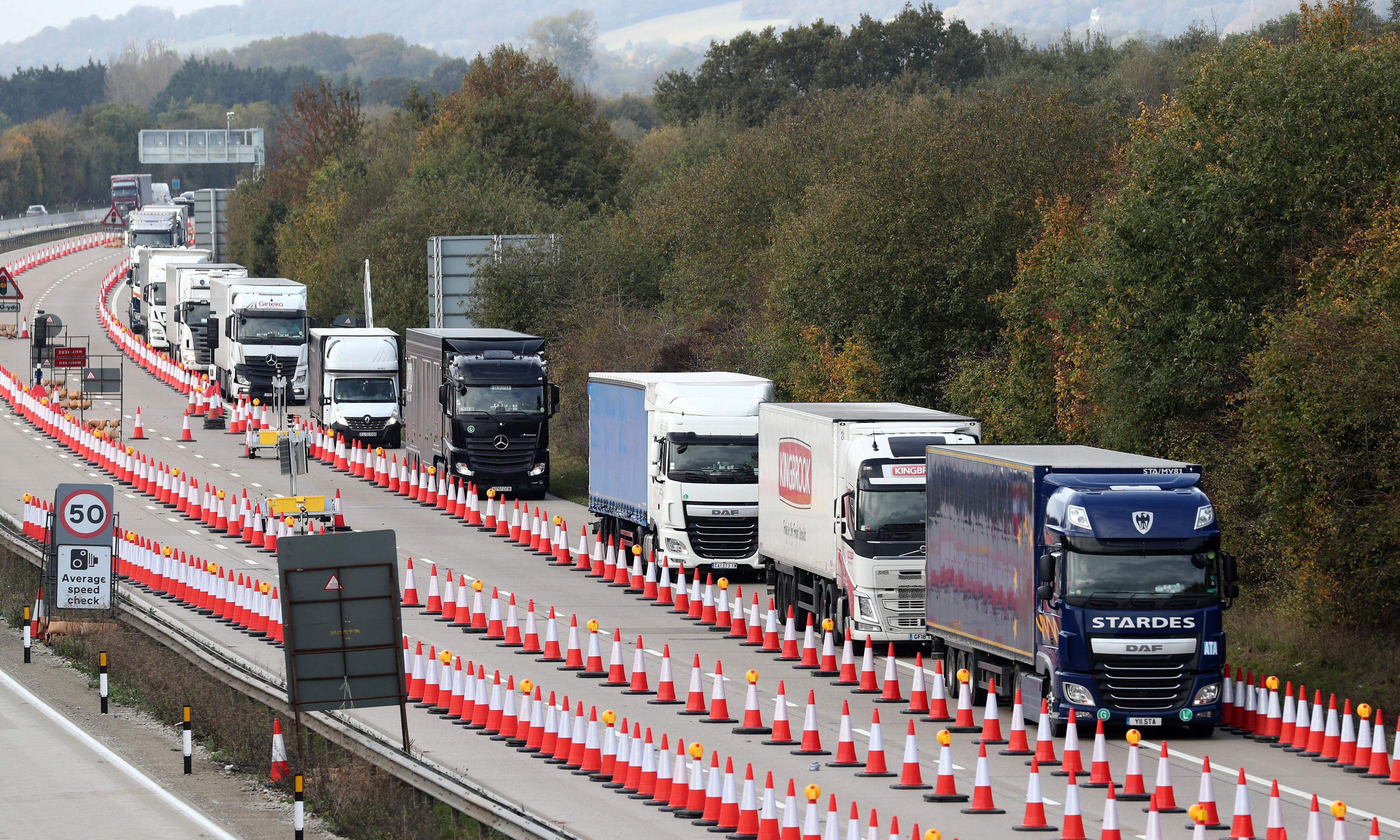 £30m no-deal Brexit scheme dismantled on roads to Dover