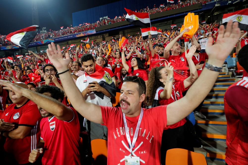 Egypt fans before the match.