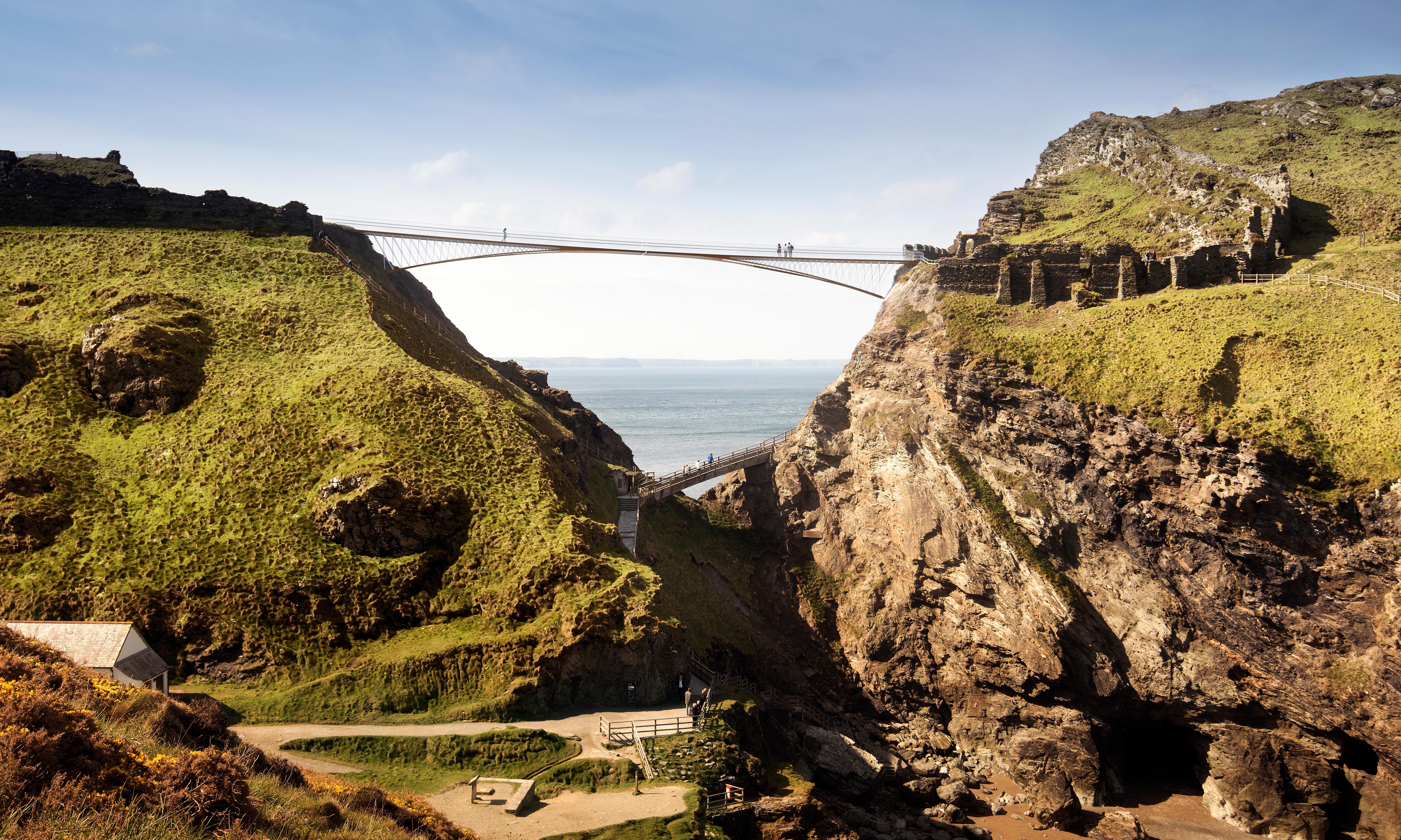New Tintagel Castle footbridge retraces line of ancient land link