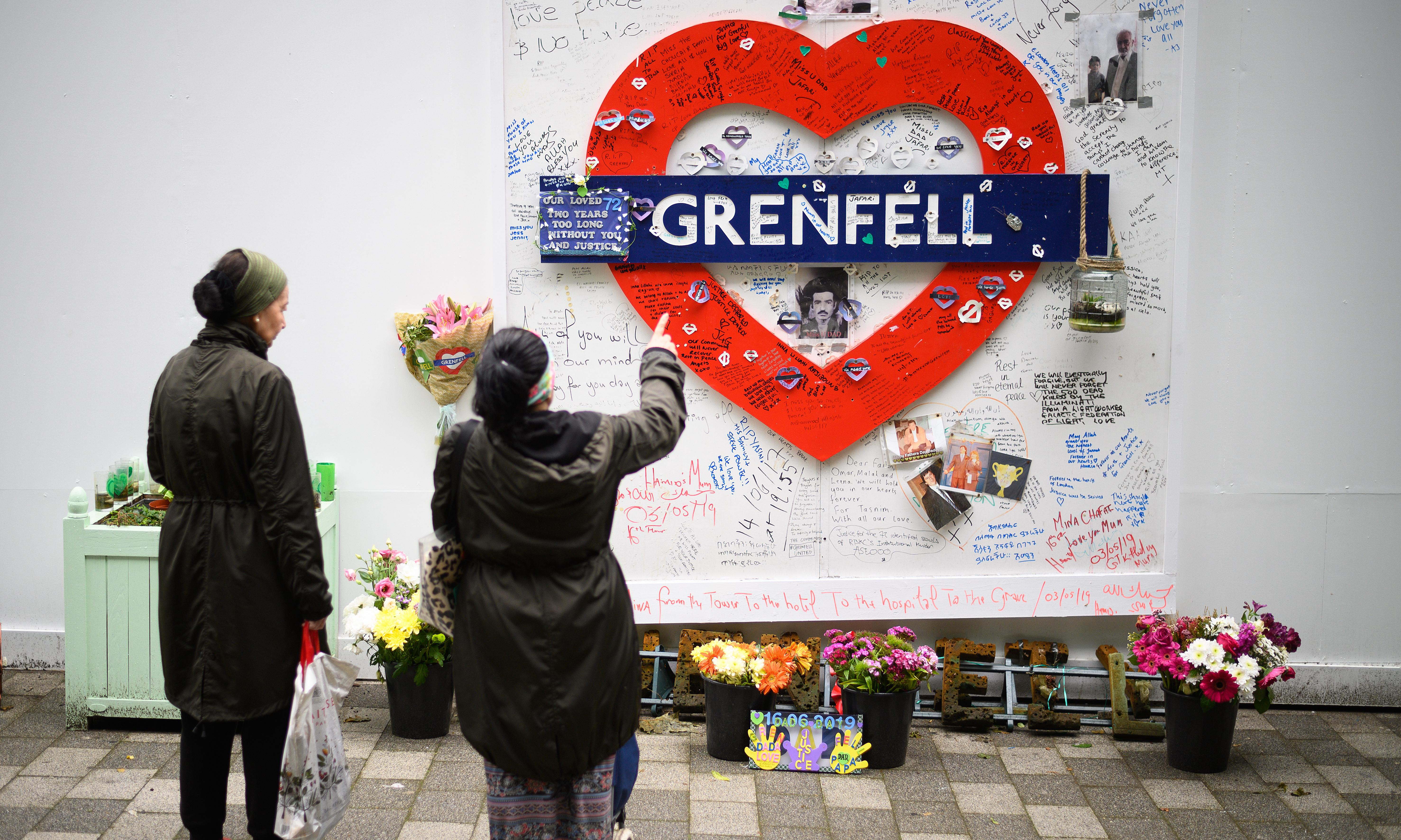 United in grief and anger, Grenfell families gather two years on