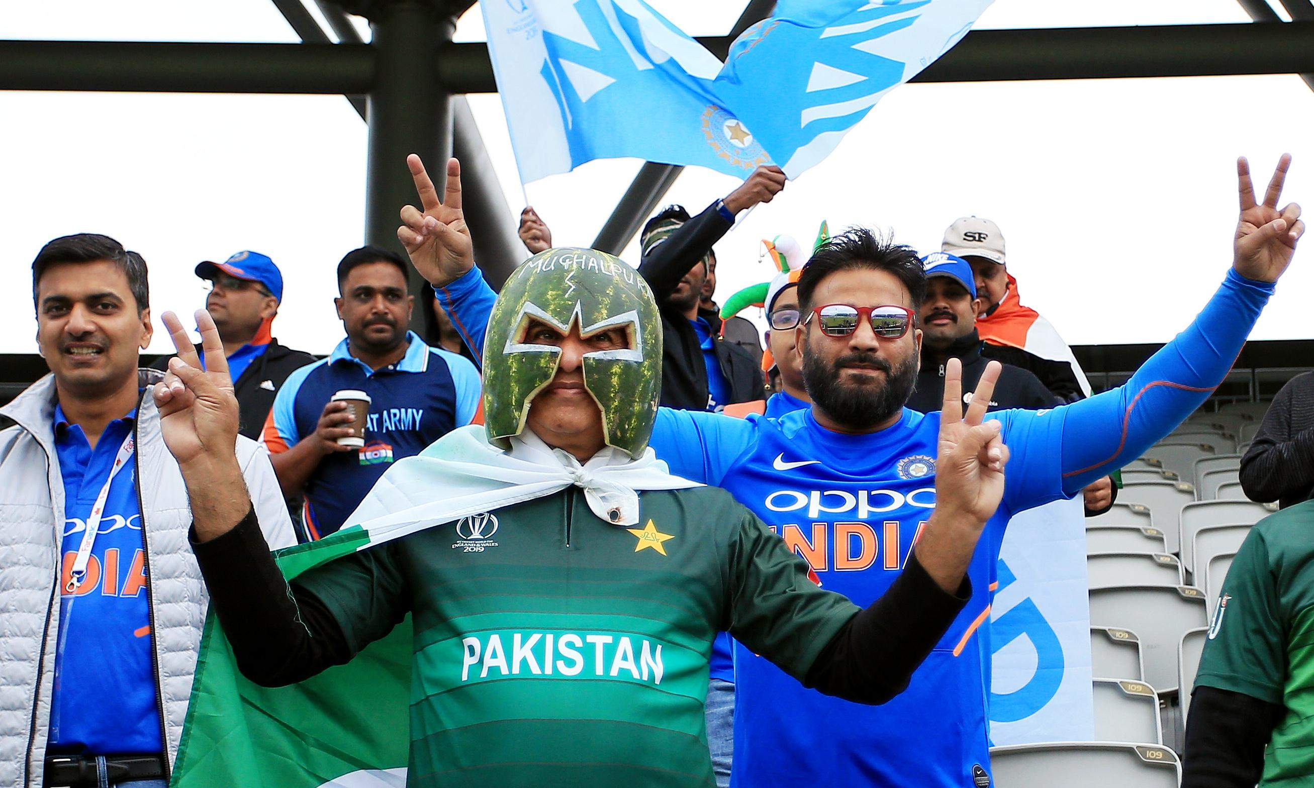 India and Pakistan fans give Old Trafford a taste of true cricket atmosphere