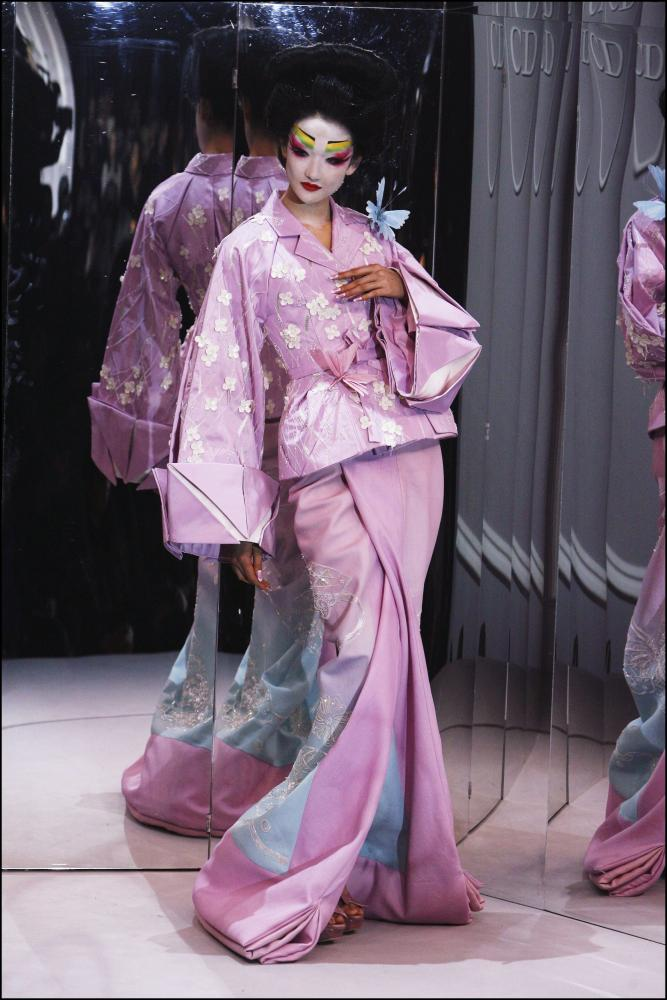 A kimono-inspired design for Christian Dior.