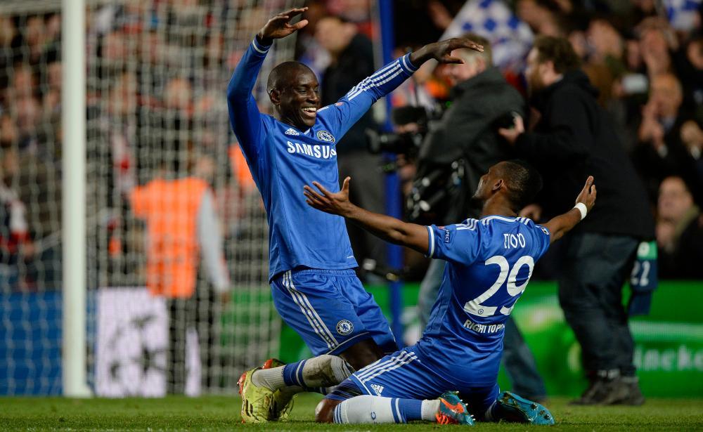 Demba Ba and Samuel Eto'o