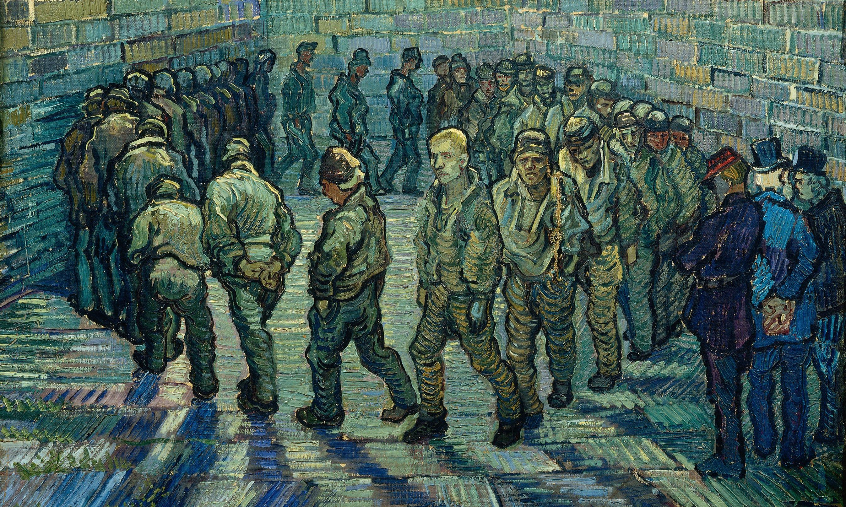 Vincent van Gogh's Prisoners Exercising: round and round the yard