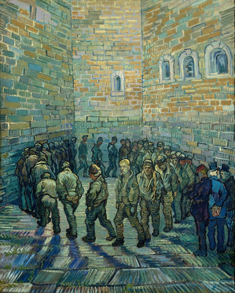 Vincent Van Gogh's Prisoners Exercising (Taking the Air in a Prison Yard).