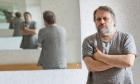 Slavoj Zizek Photographed at his home in Lubljana Lubljana Slovenia By David Levene 23/5/12