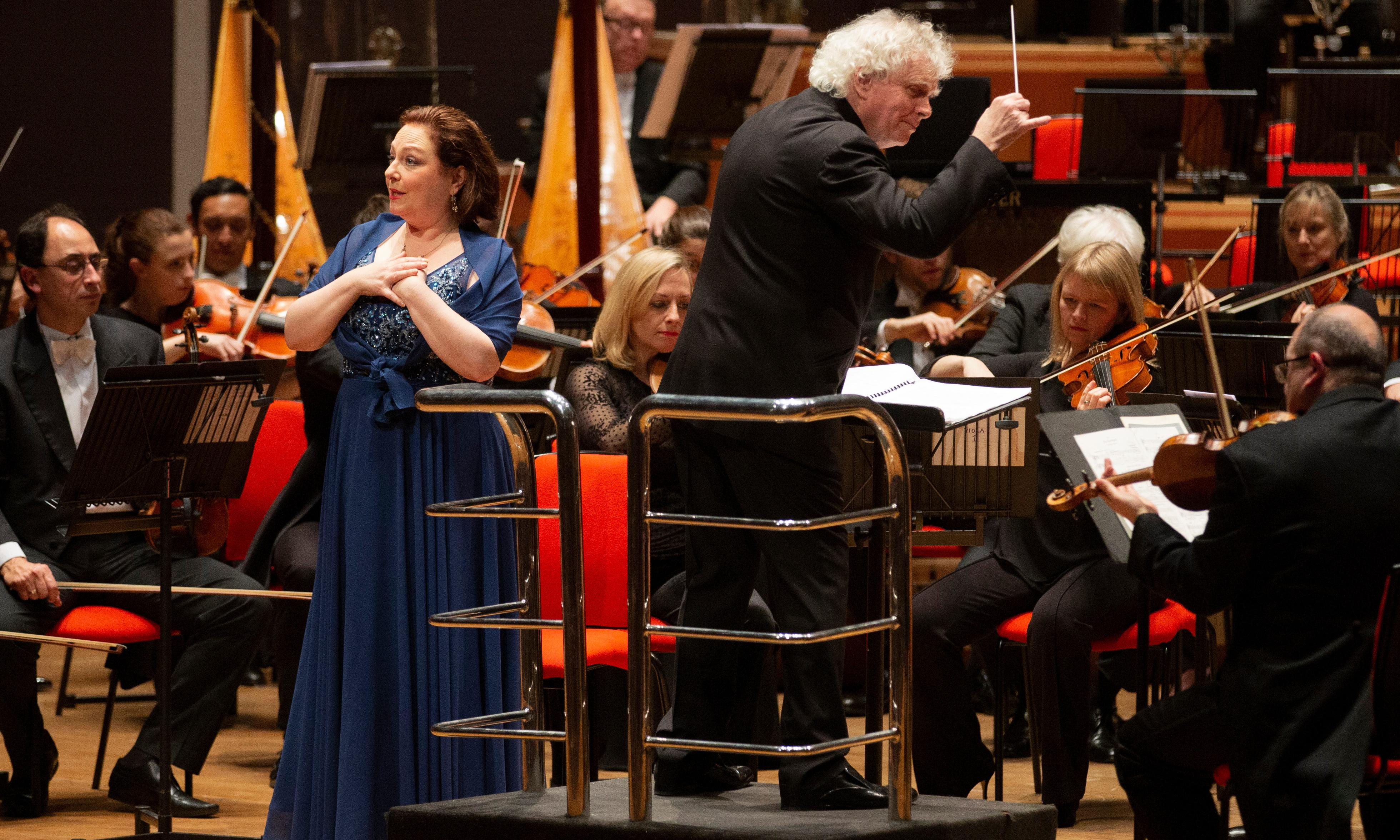 LSO/Rattle review – Berg and Beethoven see all on top form but something was missing