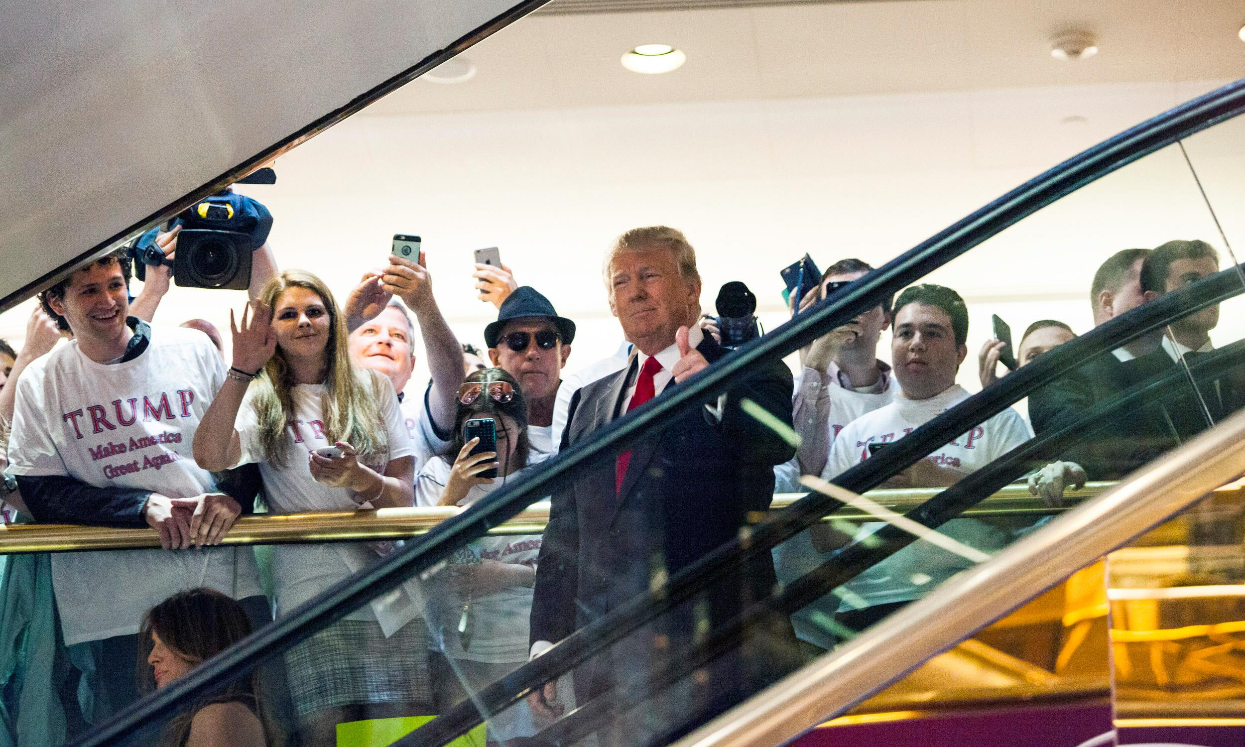Golden escalator ride: the surreal day Trump kicked off his bid for president