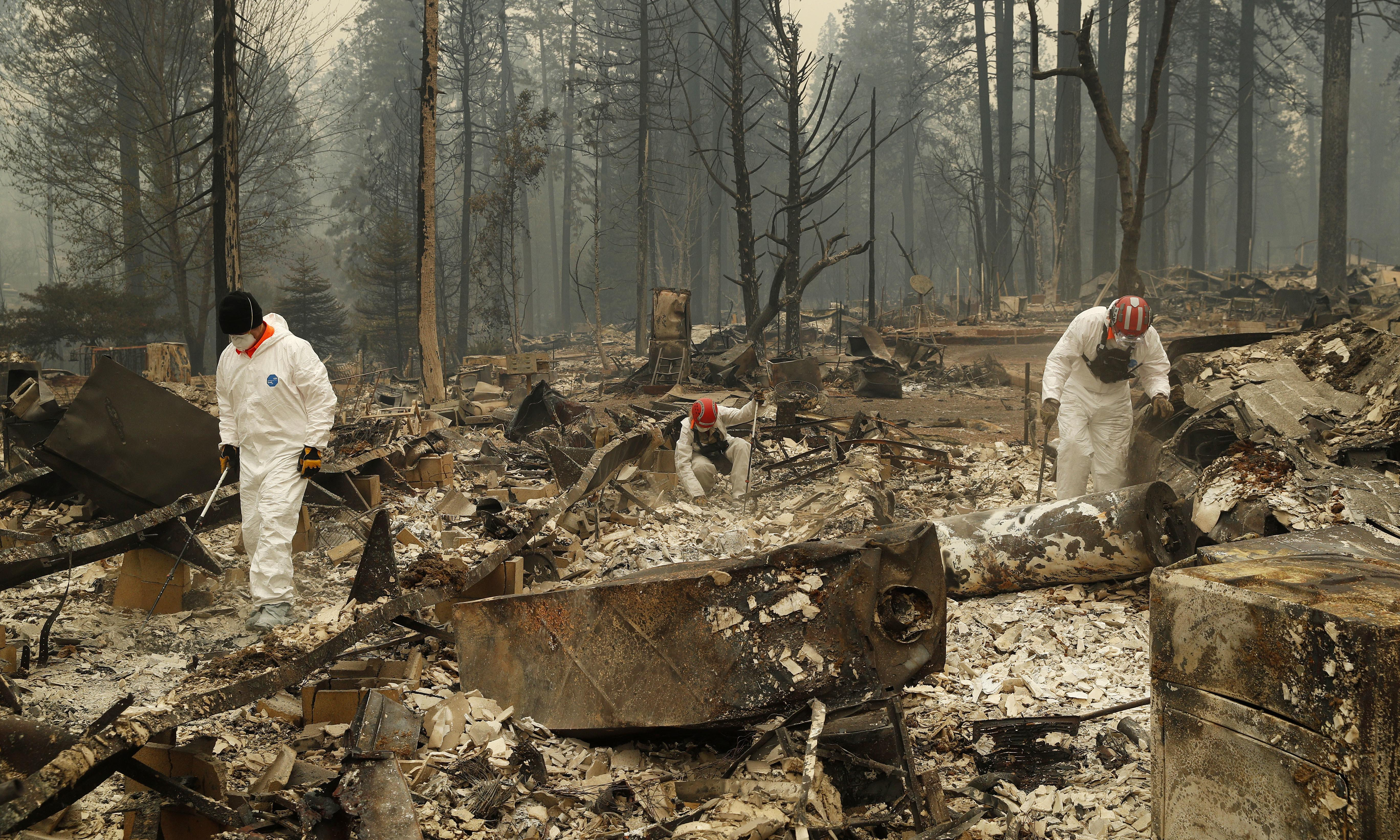 California wildfires: death toll at 50 as sheriff releases names of missing