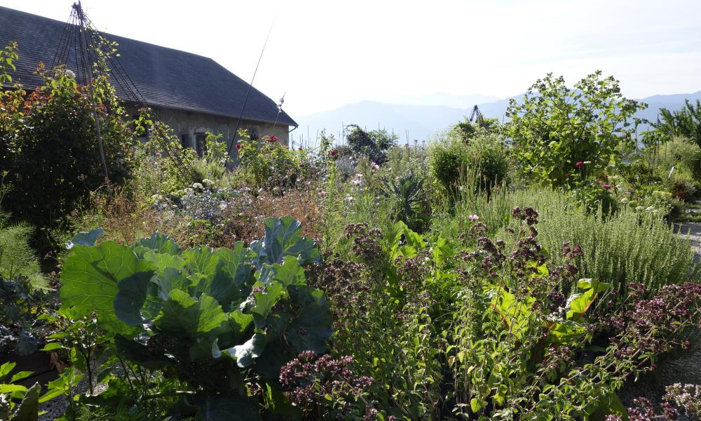 The kitchen garden at Château des Allues, Savoie